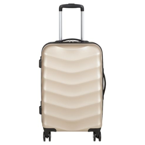 buy tesco 8 wheel hard shell champagne small suitcase from. Black Bedroom Furniture Sets. Home Design Ideas