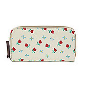 Pink Lining Wallet - TULIPS & FORGET ME NOTS