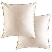 Tesco Faux  Silk Cushion 43 x 43cm, Natural, Set of 2
