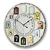 Good Times with Good Friends Clock