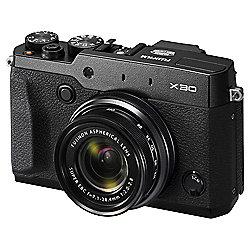 "Fuji X30 Digital Camera, Black, 12MP, 4x Optical Zoom, 3"" LCD Screen"
