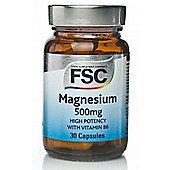 Fsc Magnesium 500 30 Veg Capsules