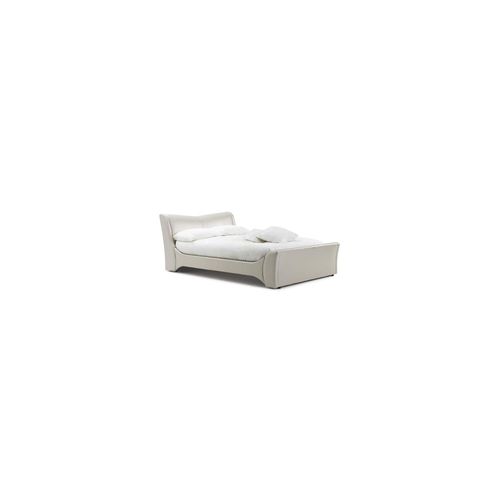 Frank Bosworth Veneto Leather Bed - Double - Pearl at Tescos Direct