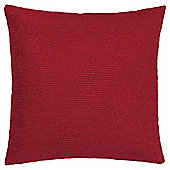 Texture Chenille Cushion Red Large