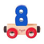 Bigjigs Rail Rail Name Number 8 (Dark Blue)