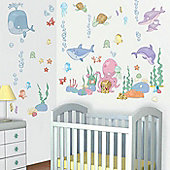 Baby Undersea Bedroom Kit, 90 Wall Decals