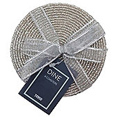 Tesco Silver beaded coaster 4 pack