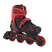 SFR Phantom Adjustable Inline Skates Black/Red - Size 3-6