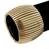 'Boutique' Matte Gold Stretch Bracelet - 18cm Length