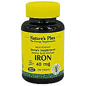 Nature's Plus Iron Elem Tablets 40mg