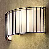Faro Linda Two Light Wall Lamp - Black
