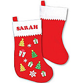 Large Felt Christmas Stockings for Children(3 Pcs)