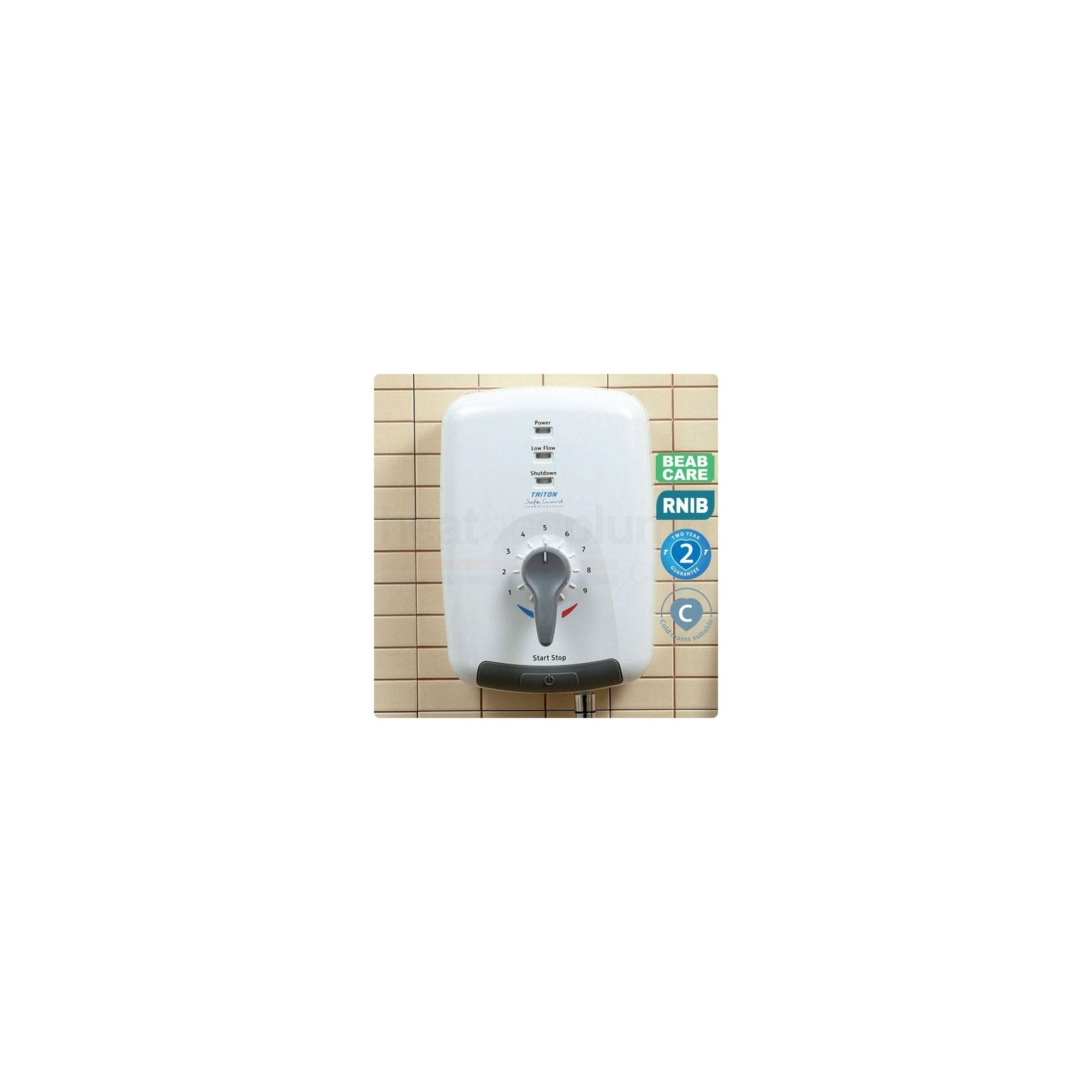 Triton Safeguard T100 Care 8.5kW Electric Shower at Tesco Direct