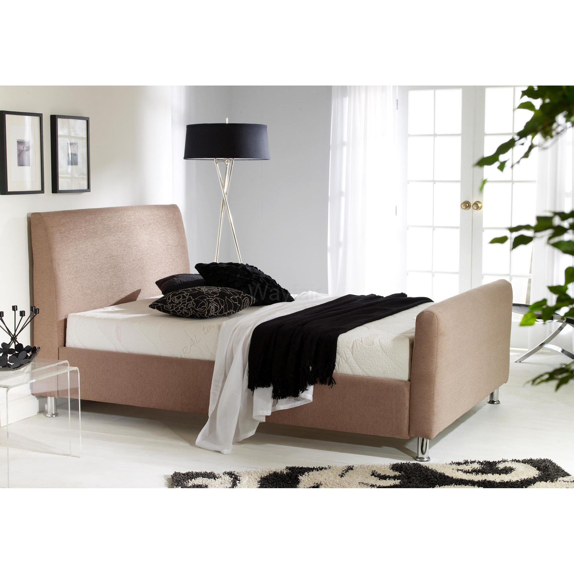 MA Living Kamli Bed - Single - faux leather Brown at Tesco Direct
