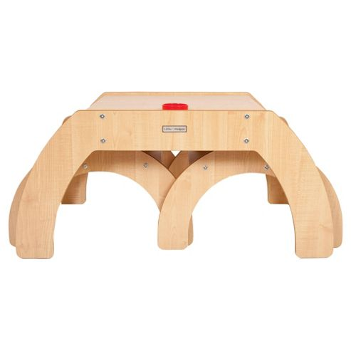 Little Helper Fun Station Duo Toddler Table And 2 Chairs Set In Maple