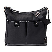 OiOi Ballistic Nylon 2 Pocket Hobo Bag (Black)