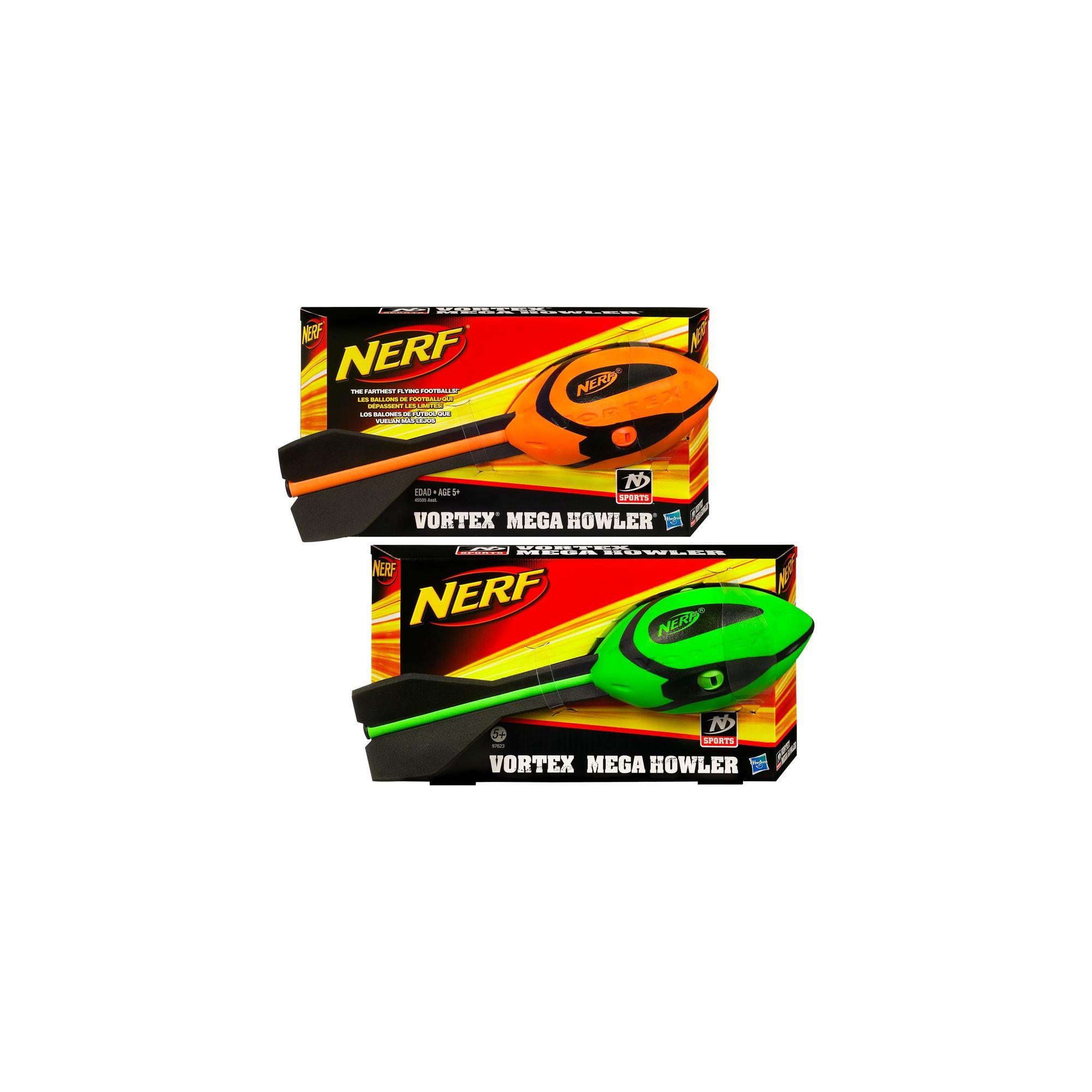 Nerf Vortex Mega Howler Whistling Football Green