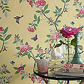 Graham & Brown Chinoiserie Wallpaper - Imperial Yellow