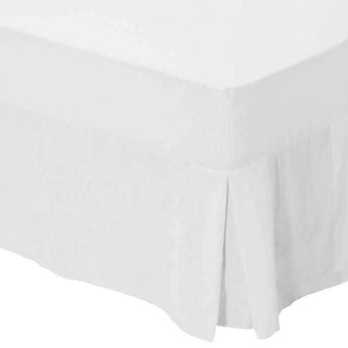 Buy catherine lansfield white box pleated fitted valance for Cubre canape zara home