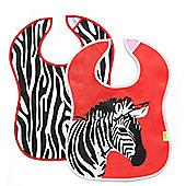 Baby K Zebra Crumbcatcher Bibs- 2 Pack