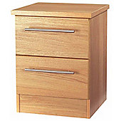 Welcome Furniture Sherwood 2 Drawer Chest with Locker - English Oak