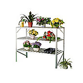 Nison Three-tier Aluminium Staging Unit, Silver