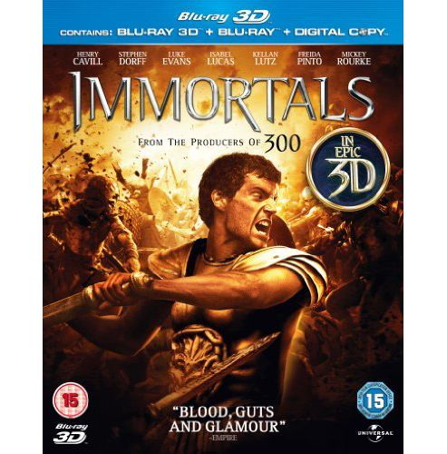Immortals (2011) 3D Triple 3D Bd/2D Bd/Digital Copy
