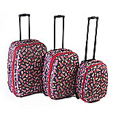3 Piece Eva Ditsy Floral Luggage Set
