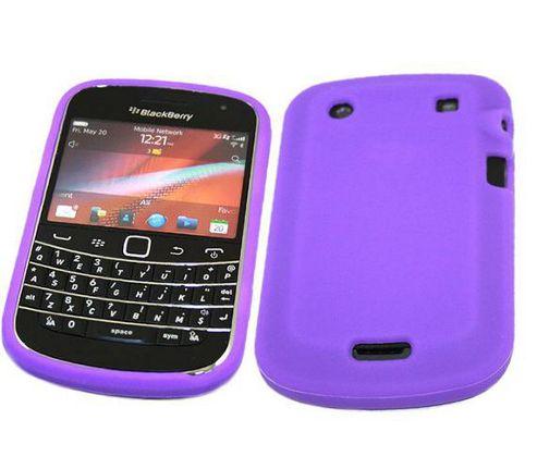 iTALKonline SoftSkin Skin Case Purple - For BlackBerry 9900 Bold Touch