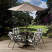 All Home St. Lucia 4 Seater Round Dining Set with Cushions