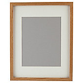 "Tesco Basic Photo Frame Oak Effect 11 x 14""/8 x 10""with Mount"