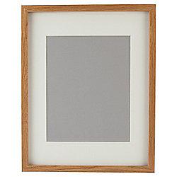 "Tesco Basic Photo Frame Oak Effect 11 x 14""/8 x 10""with Mount"