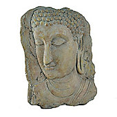 Aged Stone Look Resin Portrait Buddha Wall Art Garden Plaque