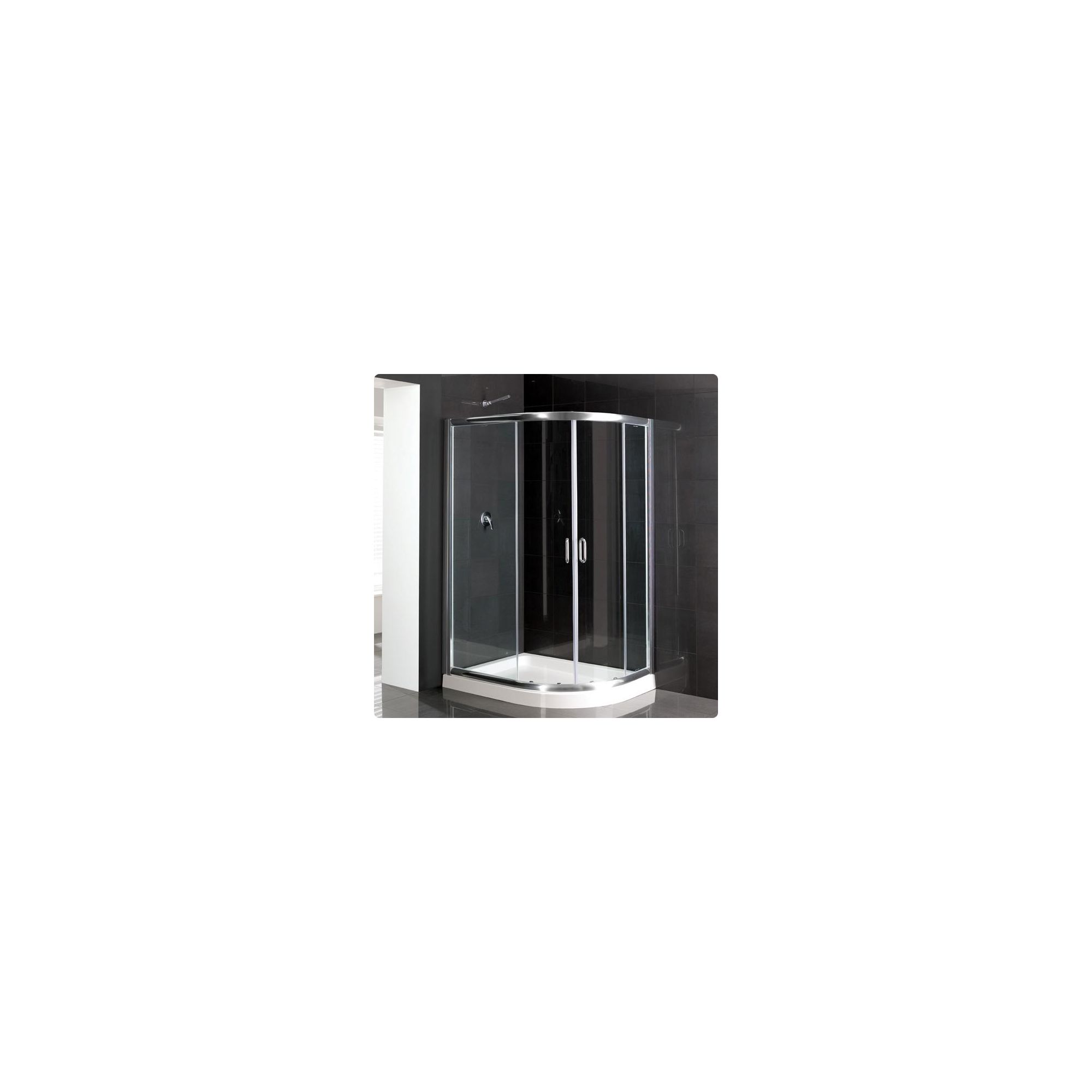 Duchy Elite Silver Offset Quadrant Shower Enclosure (Complete with Tray) 1200mm x 900mm, 6mm Glass at Tesco Direct
