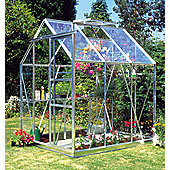 Europa Manor Countess Greenhouse – 5 x 6 - Natural Aluminium Finish – Horticultural Glass