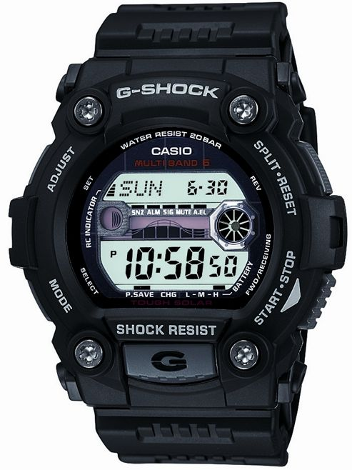 Casio G-Shock Wave Ceptor Mens Rubber Chronograph Watch GW-7900-1ER
