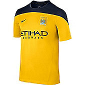 2013-14 Man City Nike Training Jersey (Yellow) - Kids - Yellow