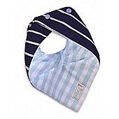 Skibz Doublez Bandana Dribble Bib (French Stripe/Pale Blue Gingham)