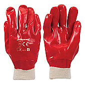 Silverline Red PVC Gloves Large