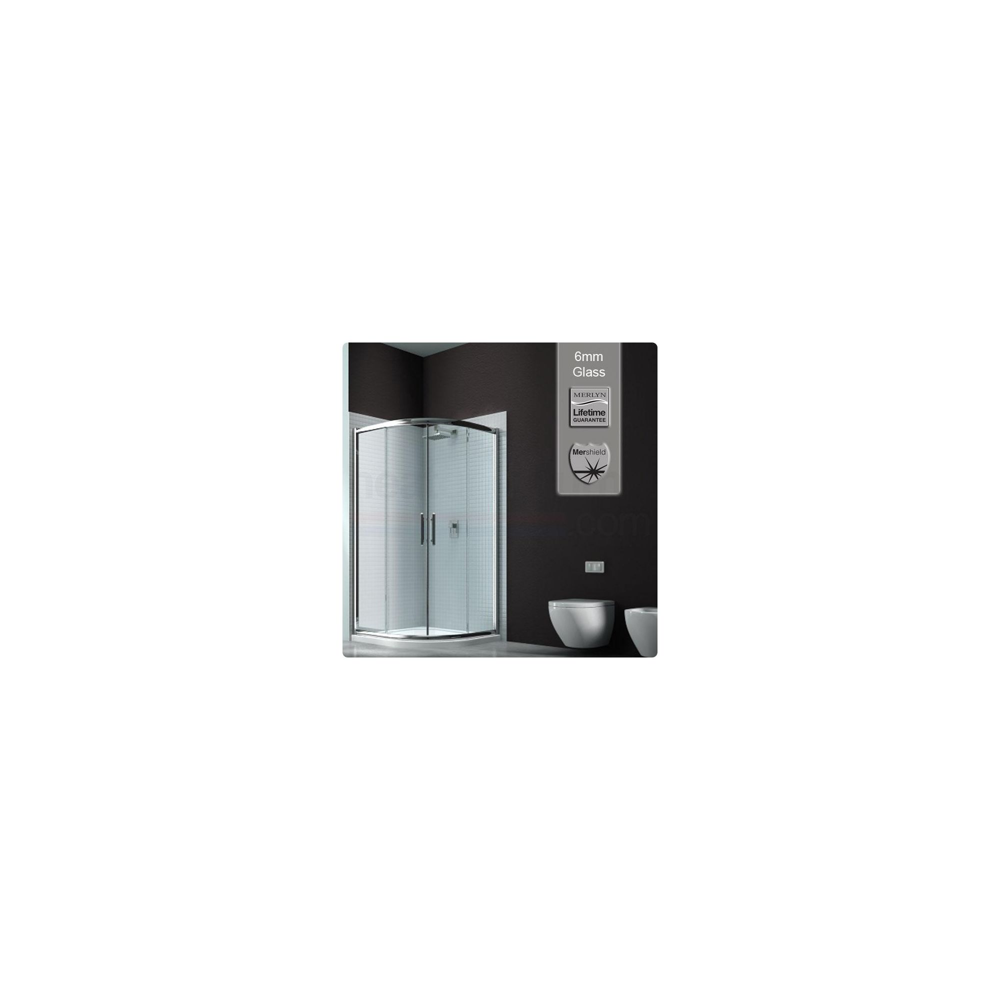 Merlyn Series 6 Sliding 2 Door Quadrant Shower Enclosure, 900mm, Low Profile Tray, 6mm Glass at Tesco Direct
