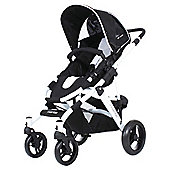 ABC Design Mamba Pushchair & Carry Cot, White/Black