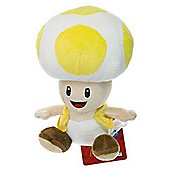 Yellow Toad - 6.75 inch Plush - New Super Mario Bros Wii Deluxe Plush Series