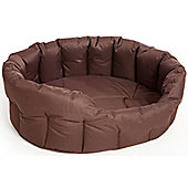 P & L Superior Pet Beds Country Dog Heavy Duty Softee Pet Bed II - Brown - Intermediate (22 cm H x 61 cm W x 51 cm D)