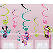 Minnie Mouse Party Hanging Swirls - 61cm (6pk)