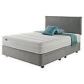 Silentnight Mirapocket 1200 Classic Non Storage Double Divan Light Grey with Headboard