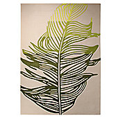 Esprit Feather Beige / Green Novelty Rug - 70cm x 140cm