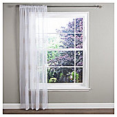 "Ceder Voile Slot Top Curtains W137xL122cm (54x48""), Linen"