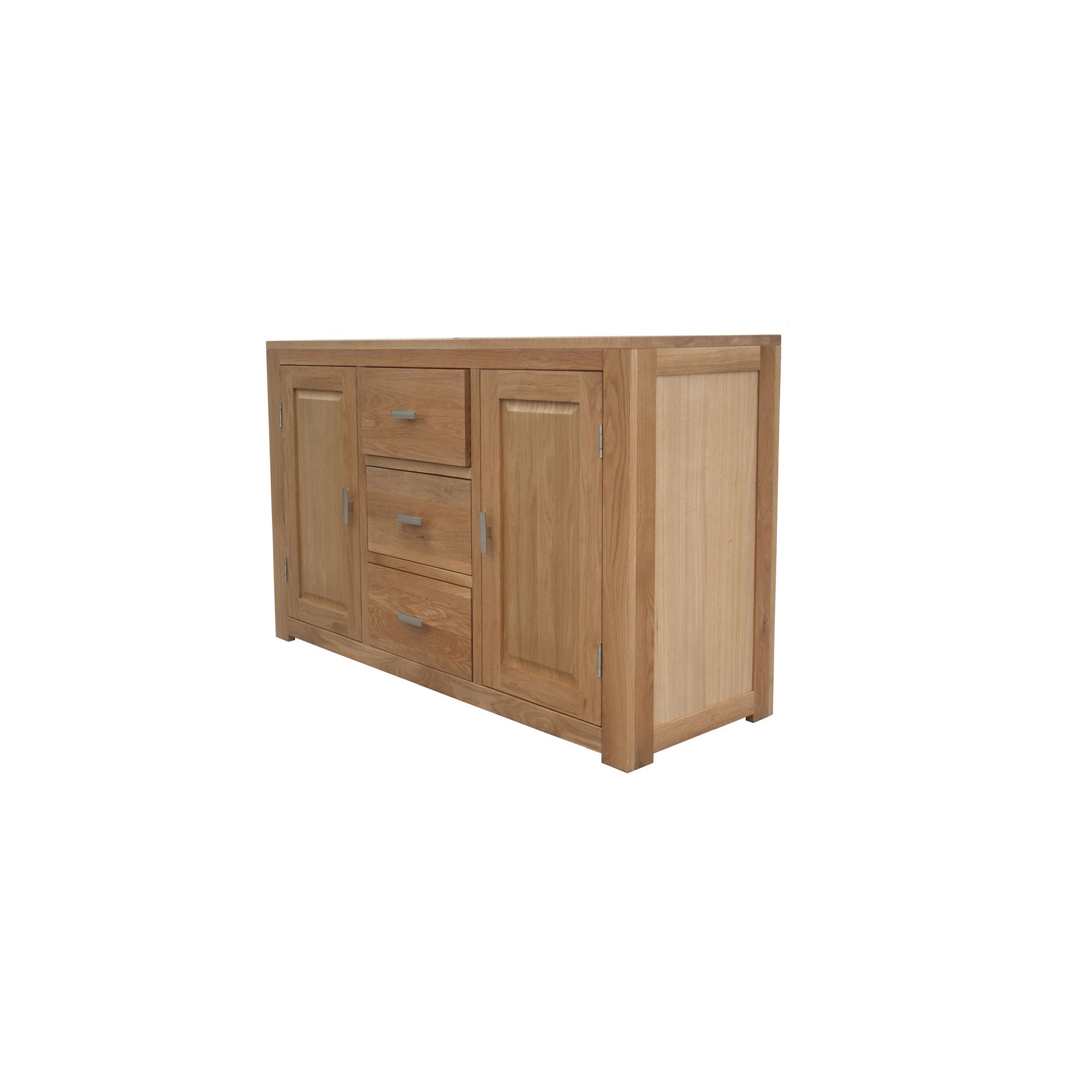 Home Zone Furniture Churchill Oak 2010 Three Drawer Sideboard in Natural Oak at Tesco Direct