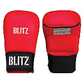 Blitz - PU Elite Mitt Without Thumb - Red