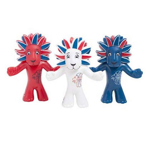London 2012 6cm Pride the Lion Figure - 60 Lions Value Pack